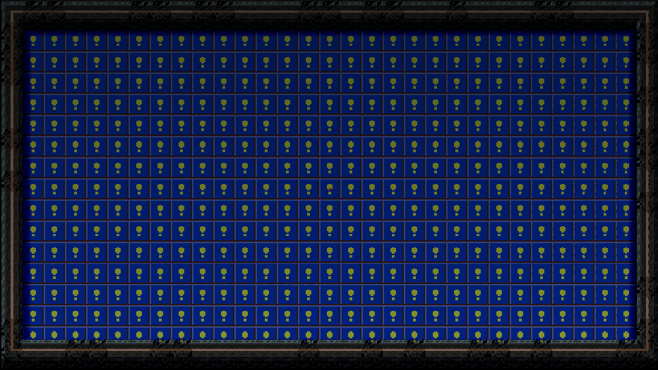 The blue tiles are empty spaces--I know, it reminds me of Super Mario World too.